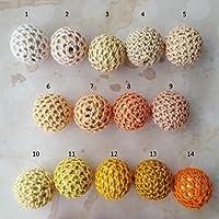 5 Holzperlen Häkelperlen Häkelkugeln