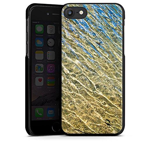 Apple iPhone X Silikon Hülle Case Schutzhülle Wasser Struktur Meer Hard Case schwarz