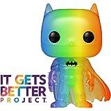 Funko 49844 POP Heroes 2020-Batman Pride 2020 Batman(RNBW) Sammelbares Spielzeug, Mehrfarben