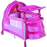 سرير للاطفال وقفص للعب مع شبكة حشرات من بيبي لوف، لون ازرق 27-992GT