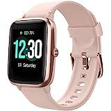 Smartwatch, fitnessarmband, volledig touchscreen, 5ATM waterdicht, dames heren smartwatch voor Android iOS, fitnesshorloge me