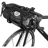 Lixada Fietstas, waterdicht, voor mountainbike, fiets, voorwiel, stuur, panier, met ritssluiting, 3 l, 7 l, verstelbaar (zwar