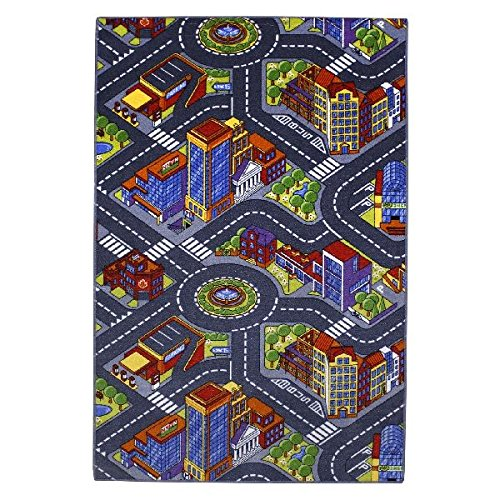 Tapis circuit - ville - 100 x 165 cm