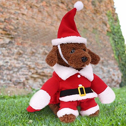 deshir Hund Katze Weihnachten Santa Claus Kostüm Pet Fancy Kleid Mäntel Jacke Apparel Outfits rot XS (Brust: (Claus Kostüme Baby Santa)