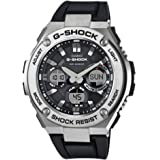 Casio Gst-S110-1Adr Watch For Men Analog-Digital, Casual, Black Band