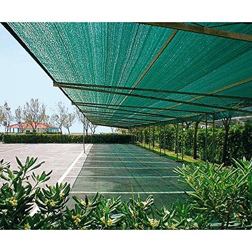 HDPE Zaunblende 1,0m x 25m Grün Tennisblende Sichtschutz Zaun Schattiergewebe