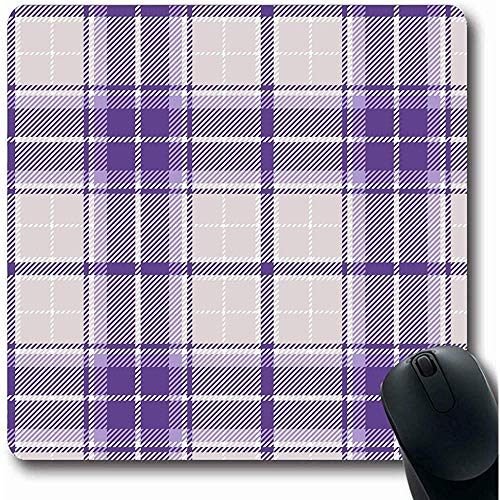 Mousepad Checker Check Violet Plaid Frühstück Buffalo Celtic Checkered Grau Bürocomputer Laptop Notebook Mauspad, rutschfestem Gummi 25X30CM -