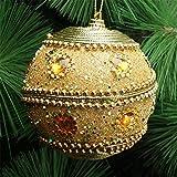 Amphia - Weihnachtsrhinestone-Glitter-Flitter-Kugel-Weihnachtsbaum-Verzierungs-Dekoration,Sticky Diamantkette Hochwertiger Weihnachtsball