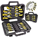 SPARES2GO Complete Mechanics Magnetic and Precision Screwdriver & Bit Tool Set