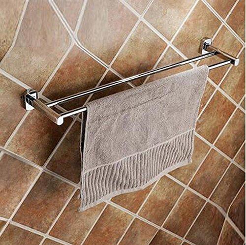 SBWYLT-Sospensione in ottone a parete cremagliera bagno bronzo doppio telo, asta creativo asciugamano di bagno asciugamano rack, bipolare