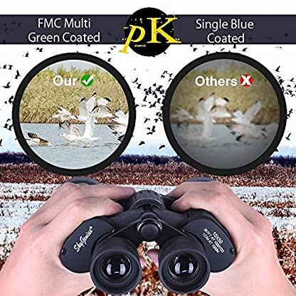 10 x 50 Binocular for Bird Watching Football Safari Sightseeing Climbing Hiking Hunting Traveling Sport, Powerful Binoculars for Adults, Fully Coated Lens, with Carrying Case Strap Clean Cloth
