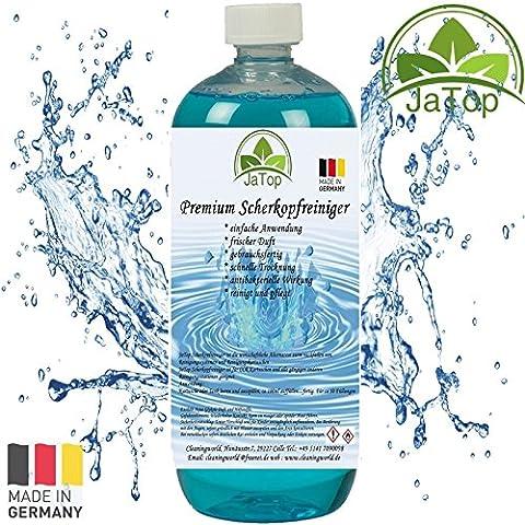 JaTop Scherkopfreiniger 1000ml Nachfüllflüssigkeit für Reinigungskartuschen.Geeignet für Braun CCR Kartuschen + gängige Kartuschen