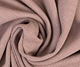 0,5m Strickstoff Baumwolle Uni - altrosa