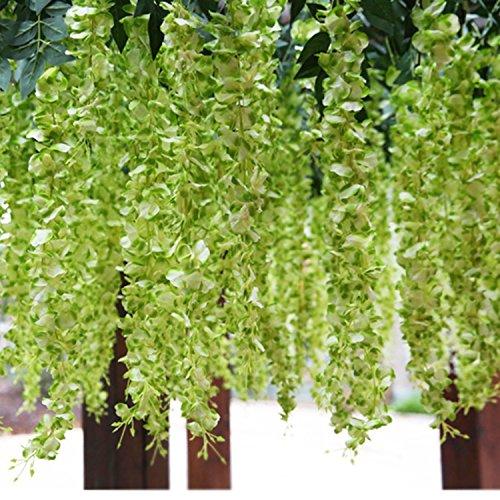6 Stück Wisteria künstliche Blumen Home Vine Decor Silk Blumen Dekoration für Hochzeiten, 106 cm groß