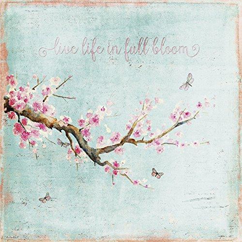 Cristal - Cuadro Artland Mural UtArt Flor de cerezo disponible en diferentes tamaños - Turquesa, 40x40 cm / Imagen