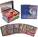 #8: Kingwell™ Pokemon cards packs New 2018 Evolutions Series Trading Card Game With Metal Box For Kids