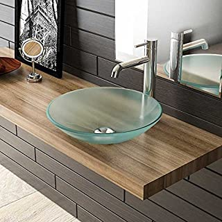 Frosted Glass Washbasin Diameter 46 cm Guest Toilet Wash Basin/Glass Bowl/Attachment Bowl/Bathroom