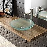 Milchglas Waschschale Ø 46 cm/Gäste WC Waschtisch/Glasschale/Aufsatzschale/Badezimmer