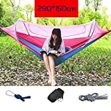 YZW Moskitonetz Für Hängematte, Lightweight Portable Ripstop Nylon Insekt-kostenloser Camping Backpacking & Survival Outdoor Zelt-g 290x150cm(114x59inch)