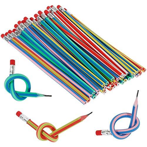 Goldge 35 Pcs Bunt Biegebleistift,Flexible Biegsame Bleistifte,Biegbare Bleistifte, Magic Biegebleistift für Kinder,Party und Kleiner Geschenke (Biegsamer Bleistift)
