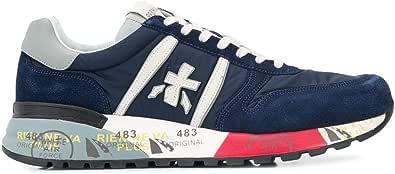 PREMIATA Scarpe Uomo Sneaker camoscio Tessuto Pelle Lander_3756