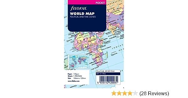 Filofax Pocket World Map 211904 Refill Insert