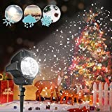 LED Christmas Projector[Snowflake Only],CAMTOA Snowflake Light Projector/Snow LED Christmas Light/Snowfall Led Projector/Christmas Garden Light/House Light/Christmas Lamp/Path Light/Fairy Hanging Light/Snowflake Projector Lamp -IP44 Waterproof,Remote Control,Cold Resistance,Large Project Area For Christmas,Halloween,Decoration,Garden,Parties,Wedding,Restaurant,Family Gathering,Landscape,Indoor Application, Any Festival & Events