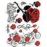 Temporäre Tattoos, Körper Tattoo Aufkleber für Frauen Gefälschte Wasserdichte Temporäre Tätowierung Neues Design Rose
