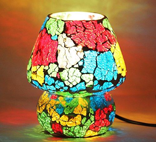 Edivine de diffuseur/Bougeoir/fabriqué à la main Festive Home Decor mosaïque en verre Bougie support avec base ronde votive Photophore, motif (# 47)