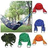 kingken Outdoor strapazierfähigem Nylon Netz Hängematte Hohe Festigkeit Camping Schlafsack Lounge zum Aufhängen Bett (zufällige Farbe)
