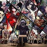 LXBHX Papier Peint Auto-Adhésif Mural En 3D (L) 350X (H) 256Cm Jour Japonais Manga Homme Personnage Salle De Séjour Chambre À Coucher Tv Fond D'Écran De Papier Peint Chambre D'Enfant Papie