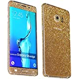Heartly Sparking Bling Glitter Crystal Diamond Protective Film Whole Body Phone Skin Sticker For Samsung Galaxy Note 5 - Champagne Gold