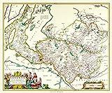 Limited Edition 1000 Piece Jigsaw Puzzle - Map of Dunbartonshire Scotland 1654 by Johan Blaeu from the Atlas Novus