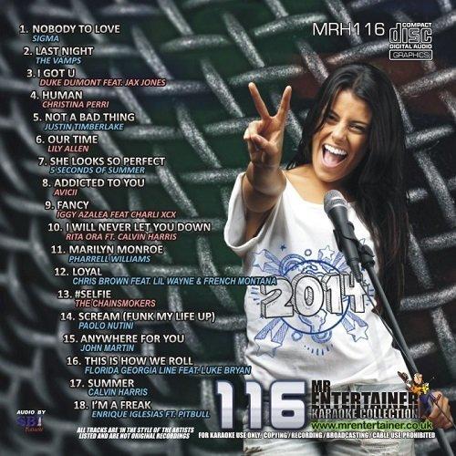 Mr Entertainer Karaoke Chart Hits Vol 116 - April 2014 (CD+G) MRH116 [Poly Sleeve] by Sigma