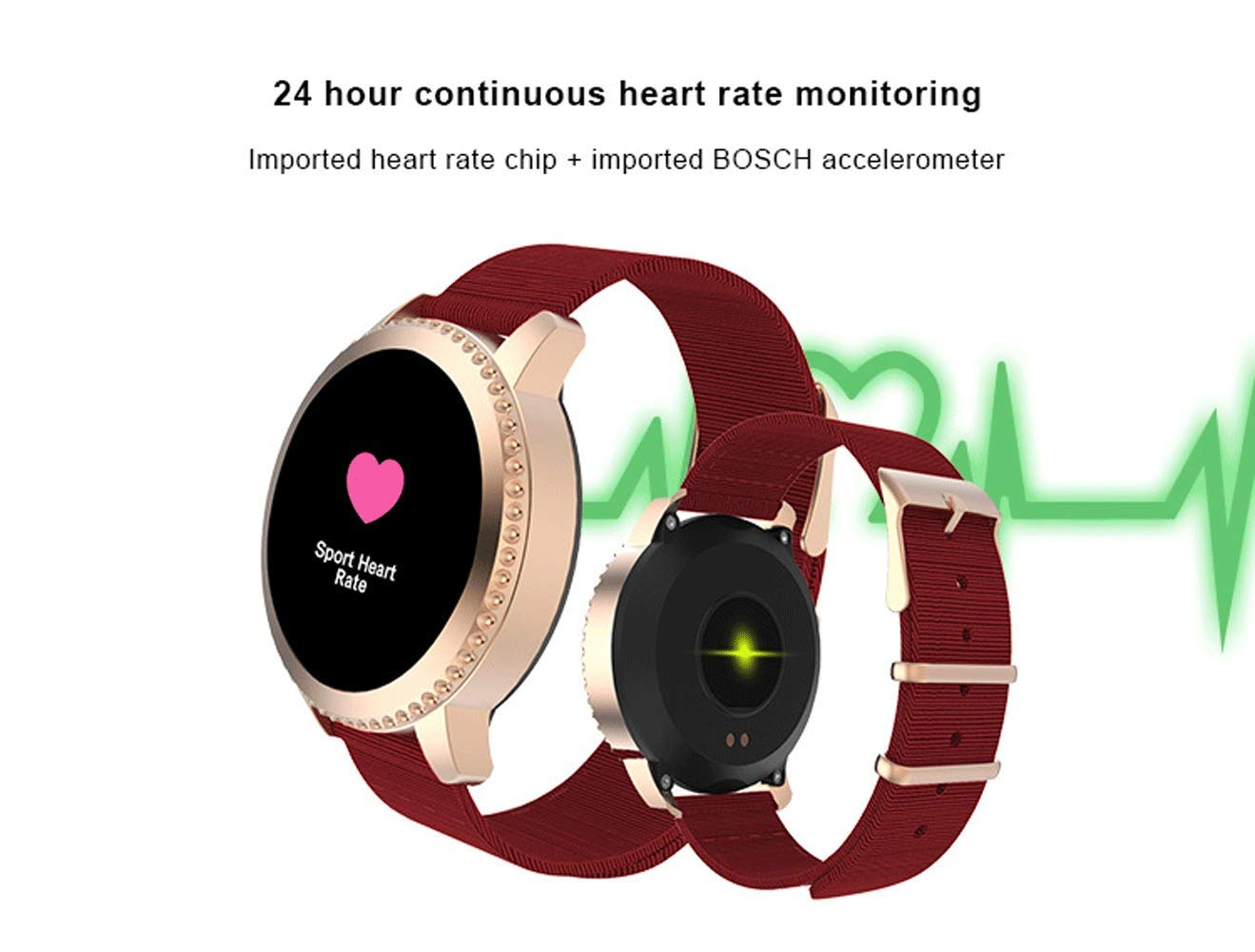 Smart Watch Bluetooth, Sport Smartwatch Fitness Tracker con TouchScreen Heart Rate Monitor, Activity Tracker Calorie… 6