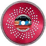 Trenntechnik / Diamant-Trennscheibe Red Devil Premium Line | perfekt geeignet für Dachdecker und Steinmetze, sehr hohe Laufruhe, kein Flattern der Scheibe und hohe Schnittkultur | 2,6 x 10 mm