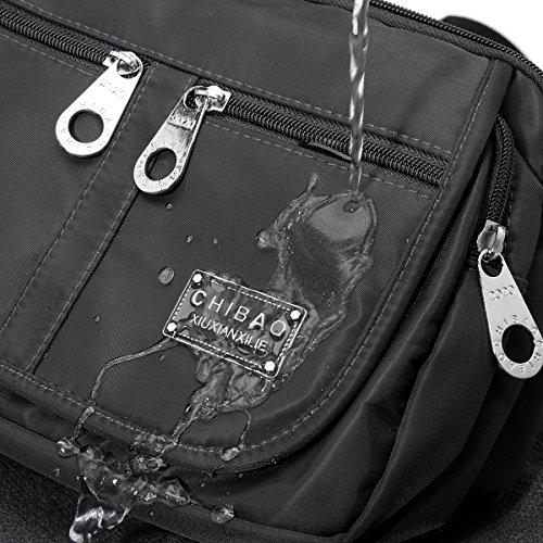 Borse da Viaggio, Gracosy Borsa a Tracolla Donna Sacchetto Impermeabile Borse a Spalla Borsetta Griffate Borsello Sport Messenger Bag Sacchetto iPad Borsa per Scuola Ragazza Tasca Viola chiaro Nero
