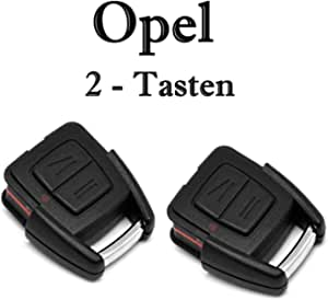 Jurmann 2x Opel Schlüssel Gehäuse Fernbedienung Reparatur 2 Tasten Ks09 Opel Agila Astra G Astra H Combo Meriva Movano Tigra Vectra B Vivaro Zafira A Auto