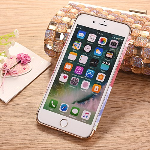 "iPhone 7Plus Handyhülle, Glitzer Leuchtend Design CLTPY Elegant Malerei Muster iPhone 7Plus Hartcase Dünne Hybrid Glanz Überzug Bumper 3-pieces Schale Etui für 5.5"" Apple iPhone 7Plus (Nicht iPhone 7) Bunte Narzissen"