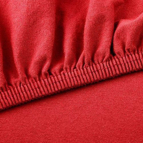 CelinaTex Lucina Spannbettlaken 180×200 – 200×200 rubin rot Jersey Baumwolle Spannbetttuch Doppelbett Matratzen 0002817 - 3