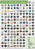 155 Edelsteine Poster. Klein DIN A3 großes Steine Poster. - ORIGINAL vom Aktuelle Medien Verlag