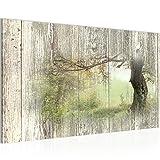 Runa Art Bild Herbst Vintage Wandbild Vlies - Leinwand Bilder XXL Format Wandbilder Wohnzimmer Wohnung Deko Kunstdrucke Grün 1 Teilig - Made in Germany - Fertig Zum Aufhängen 606414c