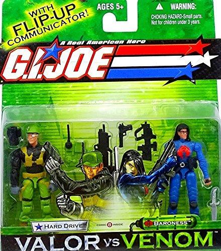 G. I. Joe Hard Drive y Baroness Valor VS. Venom–Figuras de acción de Hasbro 2004