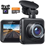 APEMAN Dual Lens Dash Cam for Cars Front and Rear with Night Vision and SD Card Included, 1080P FHD Mini Car Camera, 170…