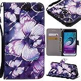 XHD-Cas Schutzhülle für Samsung Galaxy J3/J3 2016 J310 (PU-Leder, Standfunktion)