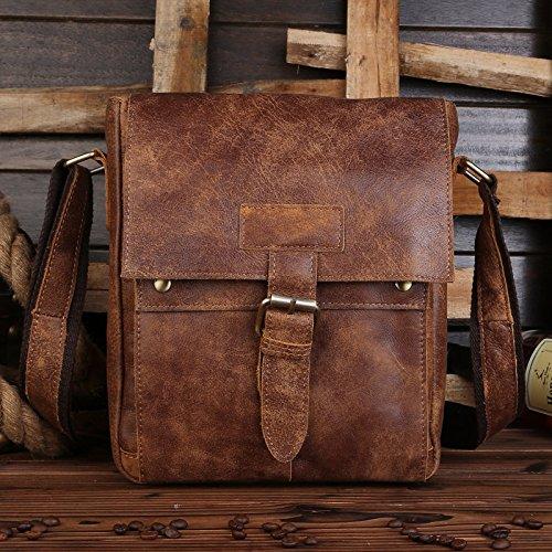 Student Taschen, Leder Herren Taschen, Herren Einzel Schultern, Umhängetaschen, Ledertaschen, Schultaschen, Nubukleder Nubukleder
