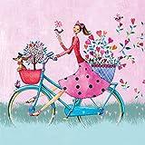 PPD Weekend On Bike Servietten, 20 Stück, Tischservietten, Tissue, Bunt, 33 x 33 cm, 1331956