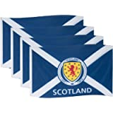 Scotland Flag Crest 5x3ft Saltire St.Andrew's OFFICIAL Football Gift