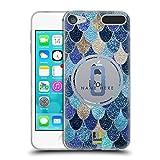 Head Case Designs Personalisierte Individuelle Meerjungfrauen Waage Monogramme Blau Soft Gel Hülle für Apple iPod Touch 6G 6th Gen