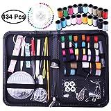 SUPVOX Kit de herramientas de coser Agujas de hilo Juego de tijeras Set de costura de primera calidad 134PCS